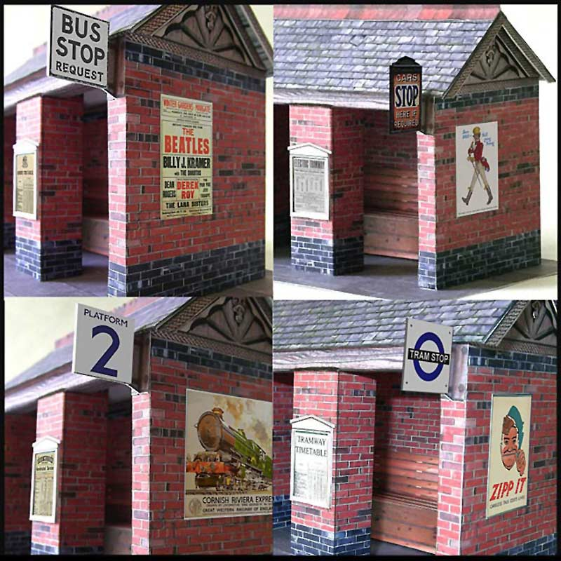 Shelter Signs 7mm scale
