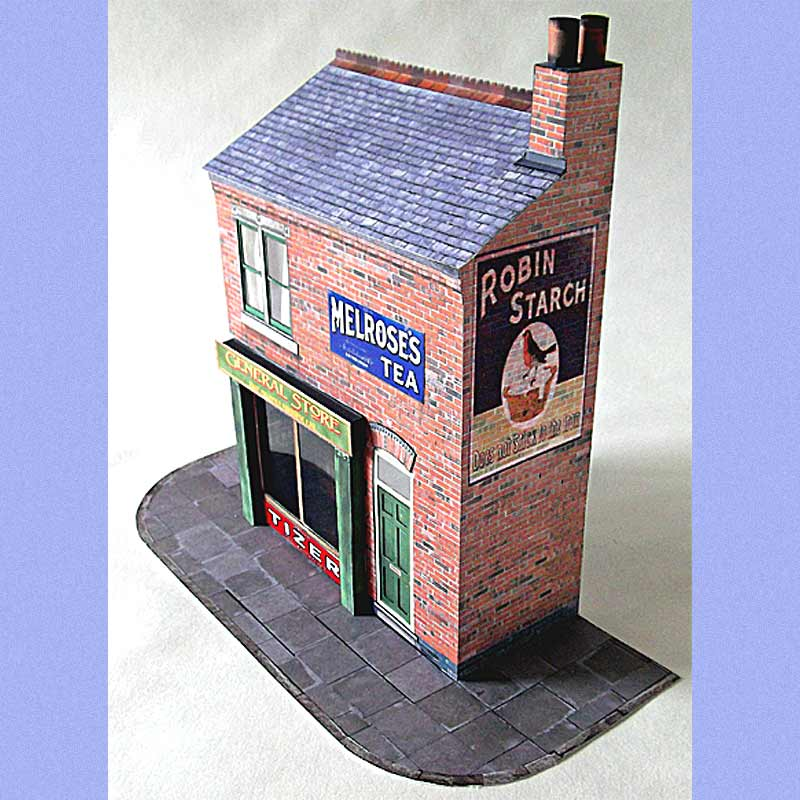 terraced shop 7mm scale