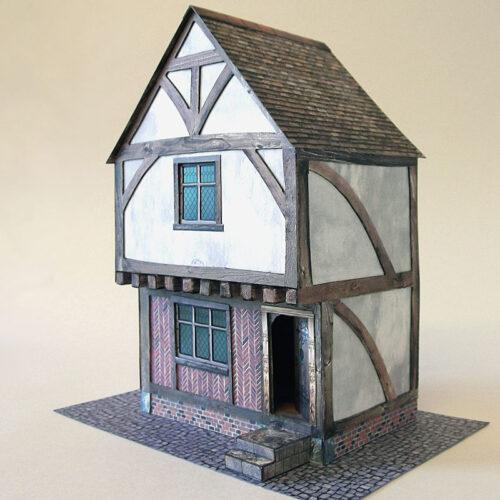 tudor-house-card-model-kit